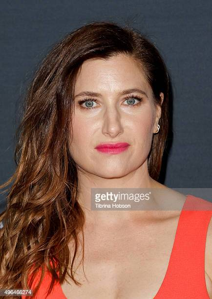 Kathryn Hahn attends the premiere of Amazon's 'Transparent' season 2 at SilverScreen Theater at the Pacific Design Center on November 9 2015 in West...