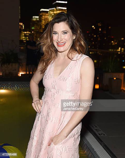Kathryn Hahn attends the The Cinema Society Banana Boat Host The New York Premiere Of IFC Films' 'The D Train' after party at Jimmy At The James...