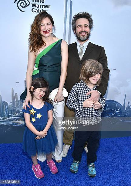 Kathryn Hahn Ethan Sandler Mae Sandler and Leonard Sandler attend the premiere of Disney's Tomorrowland at AMC Downtown Disney 12 Theater on May 9...