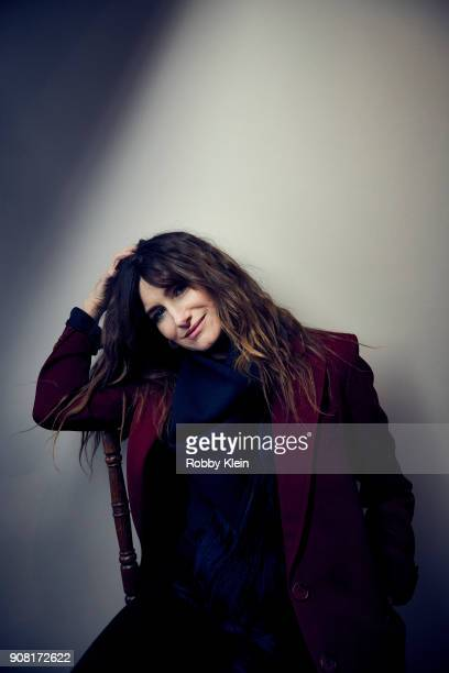 Kathryn Hahn from the film 'Private Life' poses for a portrait at the YouTube x Getty Images Portrait Studio at 2018 Sundance Film Festival on...