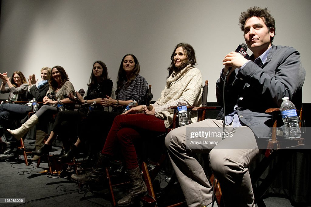 Kathryn Hahn, Jane Lynch, Jill Soloway, Nicole Daniels, Courtney Bright, Michaela Watkins and Josh Radnor attend the Film Independent Directors Close-Up 2013 - The Actors: Getting Great Performances at Landmark Nuart Theatre on March 6, 2013 in Los Angeles, California.