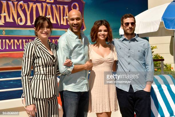 Kathryn Hahn KeeganMichael Key Selena Gomez and Andy Samberg attend the photo call for Sony Pictures' 'Hotel Transylvania 3 Summer Vacation' at Sony...