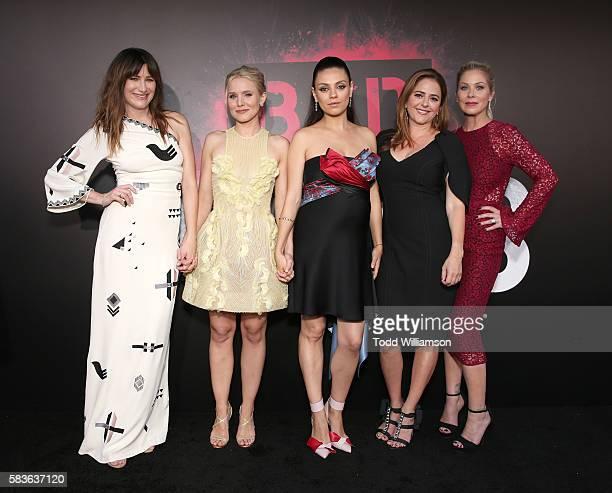 "Kathryn Hahn, Kristen Bell, Mila Kunis, Annie Mumolo and Christina Applegate attend the premiere Of STX Entertainment's ""Bad Moms"" at Mann Village..."