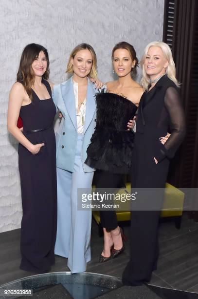 Kathryn Hahn Olivia Wilde Kate Beckinsale and Elizabeth Banks wearing Max Mara attend Women In Film PreOscar Cocktail Party presented by Max Mara and...