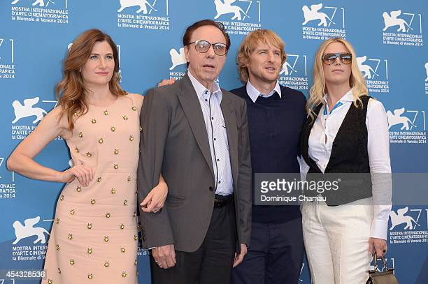 Kathryn Hahn Peter Bogdanovich Owen Wilson and Louise Stratten attend the 'She's Funny That Way' Photocall during the 71st Venice Film Festival on...
