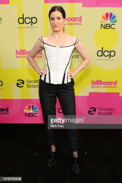Kathryn Hahn poses backstage for the 2021 Billboard Music Awards, broadcast on May 23, 2021 at Microsoft Theater in Los Angeles, California.