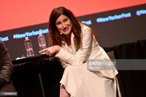 Kathryn Hahn speaks onstage during a talk with Tom Perrotta and Katy Waldman at the 2019 New Yorker Festival on October 12, 2019 in New York City.