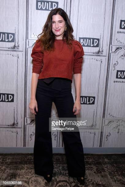 Kathryn Hahn visits Build Studio on October 3, 2018 in New York City.