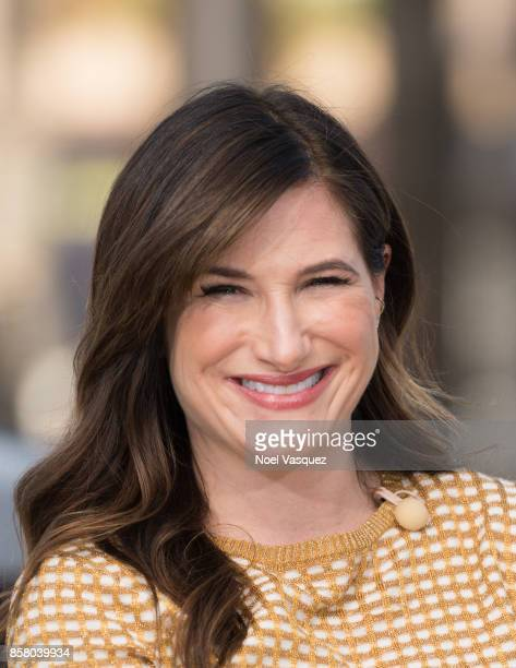 """Kathryn Hahn visits """"Extra"""" at Universal Studios Hollywood on October 5, 2017 in Universal City, California."""