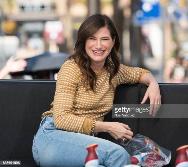 Kathryn Hahn visits 'Extra' at Universal Studios Hollywood on October 5 2017 in Universal City California