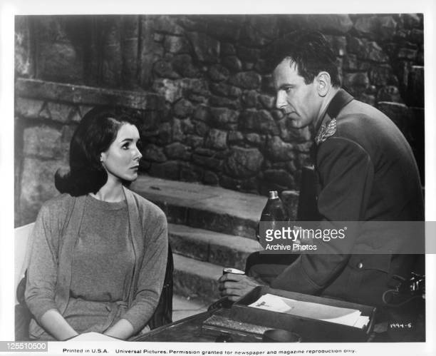 Kathryn hays is keeping Maximilian Schell distracted in a scene from the film 'Counterpoint' 1967