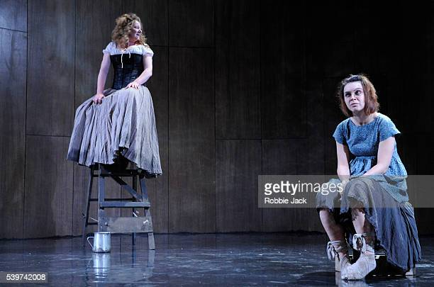 Kathryn Howden as Janet and Hannah Donaldson as Helen in the Traverse Theatre's production of Rona Munro's play The Last Witch directed by Dominic...