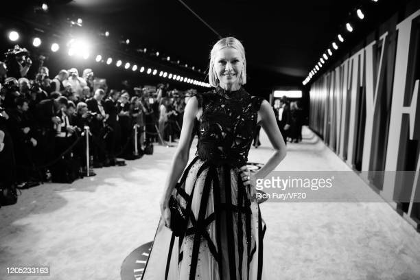 Kathryn Hufschmid Murdoch attends the 2020 Vanity Fair Oscar Party hosted by Radhika Jones at Wallis Annenberg Center for the Performing Arts on...