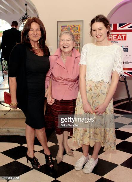 Kathryn Ireland British Consul General Dame Barbara Hay and guest attend the GREAT British Film Reception at British Consul General's Residence on...