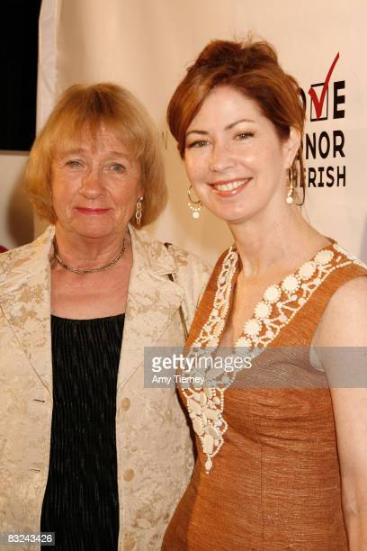 Kathryn Joosten and Dana Delany attend Heroes History Makers at Sky Bar at The Mondrian on October 12 2008 in West Hollywood California