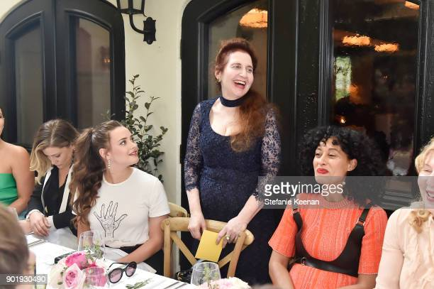 Kathryn Langford wearing Dior Lynn Hirschberg and Tracee Ellis Ross attend Lynn Hirschberg Celebrates W Magazine's It Girls With Dior at AOC on...