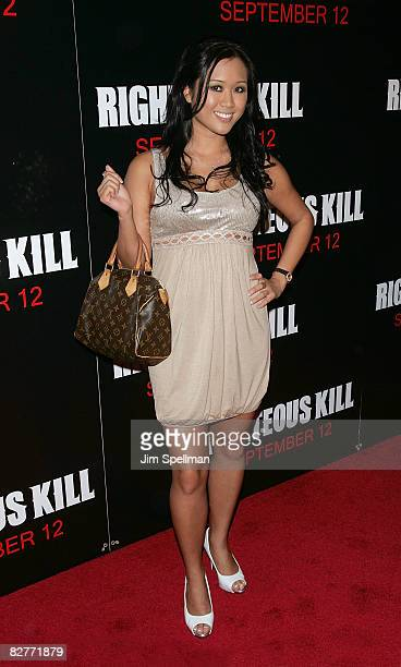 Kathryn Le attends the New York premiere of 'Righteous Kill' at the Ziegfeld Theater on September 10 2008 in New York City