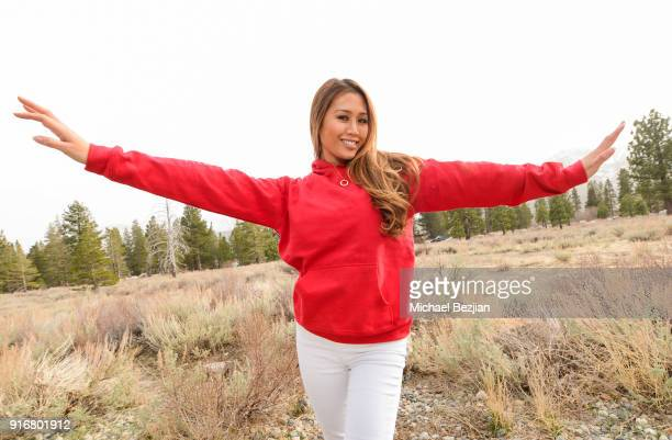 Kathryn Le poses for portrait giveback for The Artists Project at The Inaugural Mammoth Film Festival on February 10 2018 in Mammoth Lakes California