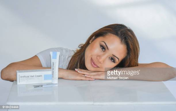 Kathryn Le using Bonotox at The Artists Project Giveback Day on February 14 2018 in Los Angeles California
