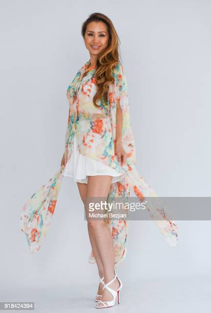 Kathryn Le wearing SiMee Collections at The Artists Project Giveback Day on February 14 2018 in Los Angeles California