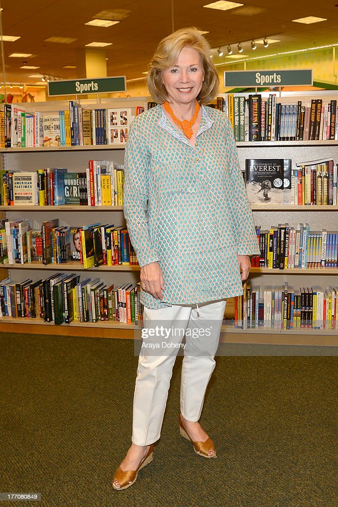 Kathryn Leigh Scott attends Lara Parker's signing of her new book 'Dark Shadows: Wolf Moon Rising' at Barnes & Noble bookstore at The Grove on August 20, 2013 in Los Angeles, California.