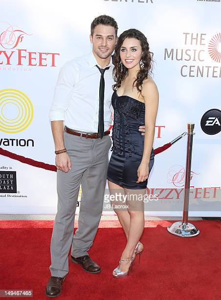 Kathryn McCormick and Ryan Guzman attend the Dizzy Feet Foundation Second 'Celebration of Dance' Gala at Dorothy Chandler Pavilion on July 28, 2012...