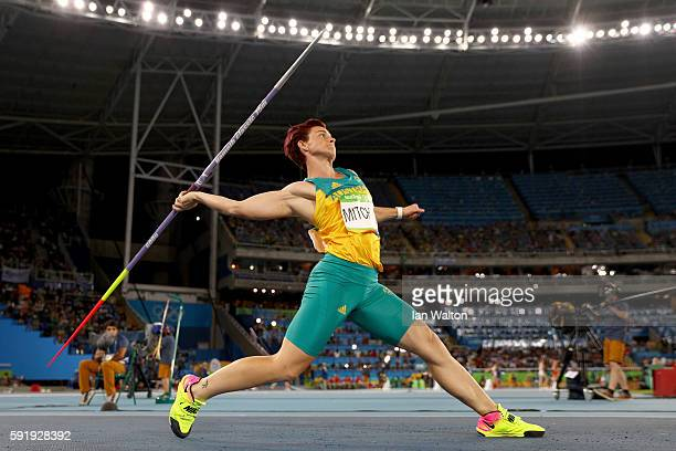 Kathryn Mitchell of Australia competes during the Women's Javelin Throw Final on Day 13 of the Rio 2016 Olympic Games at the Olympic Stadium on...