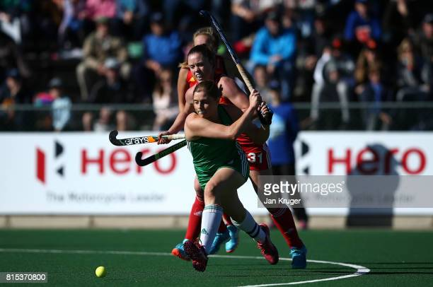 Kathryn Mullan of Ireland scores her goal during day 5 of the FIH Hockey World League Women's Semi Finals Pool A match between England and Ireland at...