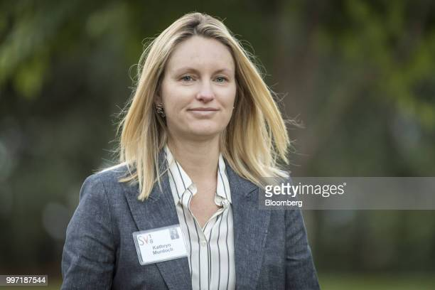 Kathryn Murdoch wife of TwentyFirst Century Fox Inc CEO James Murdoch arrives for a morning session during the Allen Co Media and Technology...