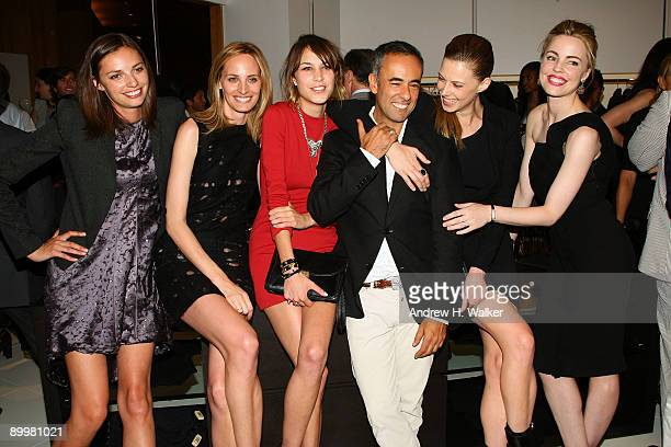 Kathryn Neale Lauren Santo Domingo Alexa Chung Francisco Costa Elettra Wiedemann and Melissa George attend the opening of the Calvin Klein Collection...