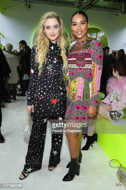 Kathryn Newton and Alexandra Shipp attend the Valentino Womenswear Spring/Summer 2020 show as part of Paris Fashion Week on September 29 2019 in...