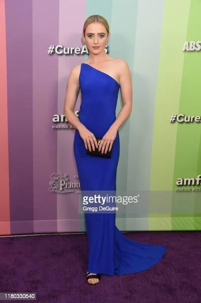 Kathryn Newton attends the 2019 amfAR Gala Los Angeles at Milk Studios on October 10, 2019 in Los Angeles, California.
