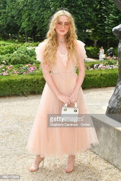 Kathryn Newton attends the Christian Dior Haute Couture Fall/Winter 20182019 show as part of Haute Couture Paris Fashion Week on July 2 2018 in Paris...