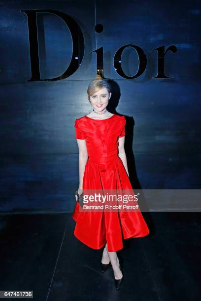 Kathryn Newton attends the Christian Dior show as part of the Paris Fashion Week Womenswear Fall/Winter 2017/2018 on March 3 2017 in Paris France