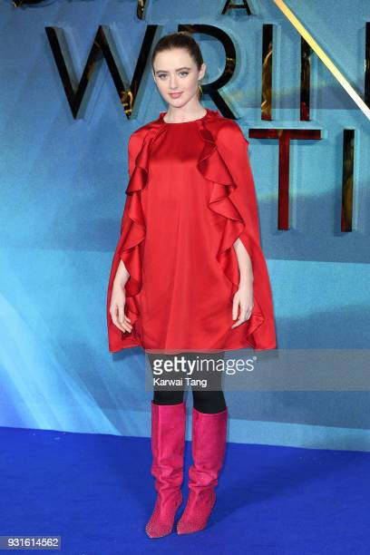 Kathryn Newton attends the European Premiere of 'A Wrinkle In Time' at BFI IMAX on March 13, 2018 in London, England.