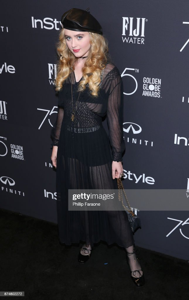 Kathryn Newton attends the HFPA's and InStyle's Celebration of the 2018 Golden Globe Awards Season and the Unveiling of the Golden Globe Ambassador at Catch on November 15, 2017 in West Hollywood, California.