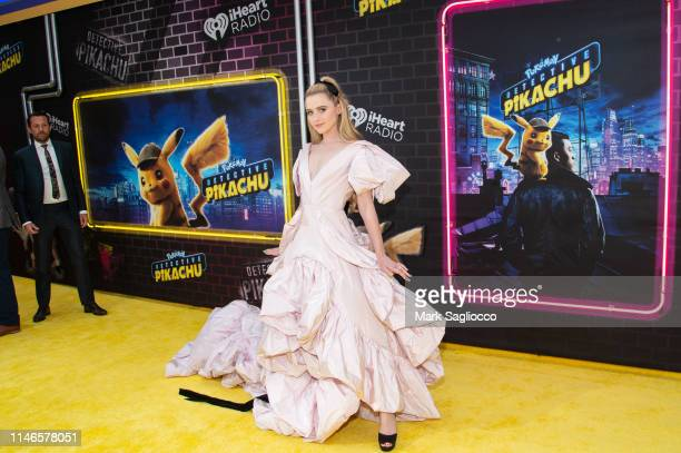 Kathryn Newton attends the Pokemon Detective Pikachu US Premiere at Times Square on May 02 2019 in New York City