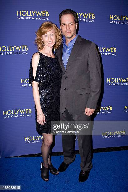 Kathryn O'Sullivan and Paul Awad attend the 2nd annual HollyWeb Festival at Avalon on April 7 2013 in Hollywood California