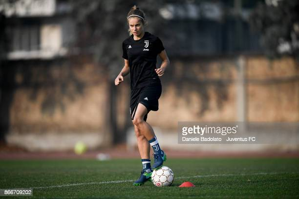 Kathryn Rood during a Juventus Women training session on October 26 2017 in Turin Italy