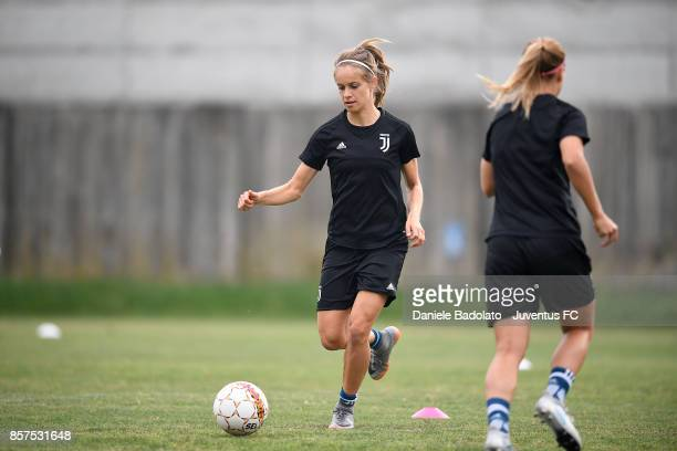Kathryn Rood during a Juventus Women training session on October 4 2017 in Turin Italy