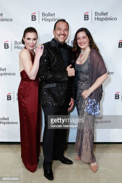 Kathryn RossNash Eduardo Vilaro and Nancy Turano attend the Ballet Hispanico Celebrates TrailBlazing Latina Leaders Rita Moreno and Nina Vaca at 2017...