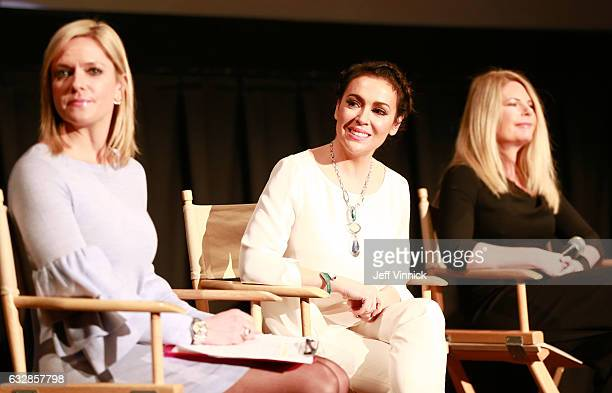 Kathryn Tappen host NBC Sports Alyssa Milano entrepreneur actress philanthropist founder Touch by Alyssa Milano and Heidi Browning Chief Marketing...