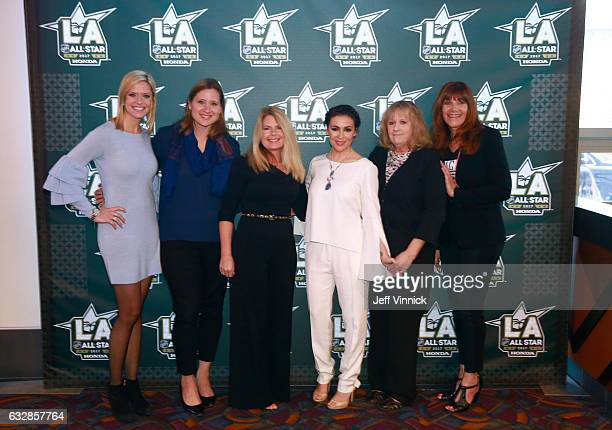 Kathryn Tappen host NBC Sports Angela Ruggiero Chief Strategy Officer LA2024 Hockey HallofFamer and 4time Olympian Heidi Browning Chief Marketing...