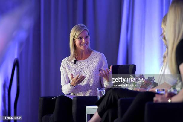 Kathryn Tappen speaks onstage at WICT Leadership Conference And Touchstones Luncheon at The New York Marriott Marquis on September 16 2019 in New...