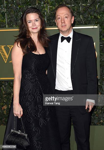 Kathryn Terry and Geordie Greig attend the Evening Standard Theatre Awards at The Old Vic Theatre on November 22 2015 in London England