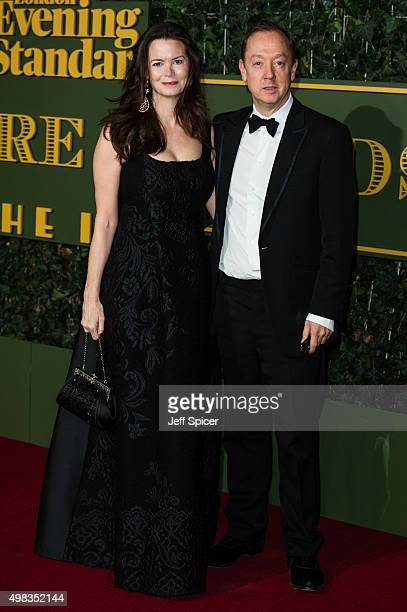 Kathryn Terry Geordie Greig attend the Evening Standard Theatre Awards at The Old Vic Theatre on November 22 2015 in London England
