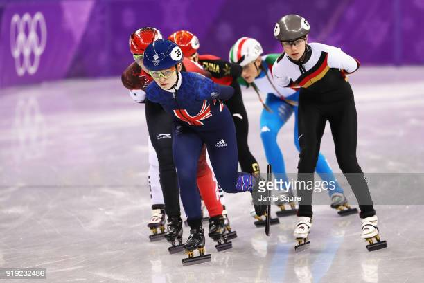 Kathryn Thomson of Great Britain Marianne St Gelais of Canada Yutong Han of China Martina Valcepina of Italy Anna Seidel of Germany and Jessica...