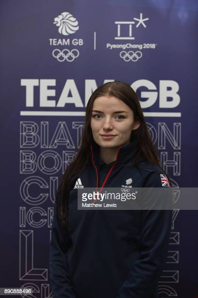 Kathryn Thomson of Great Britain pictured during a media day for the Athletes Named in the GB Short Track Speed Skating Team for the PyeongChang 2018...
