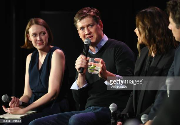 Kathryn VanArendonk Bill Lawrence Christa Miller and Zach Braff attend 'Scrubs Reunion' during Vulture Festival presented by ATT at Hollywood...