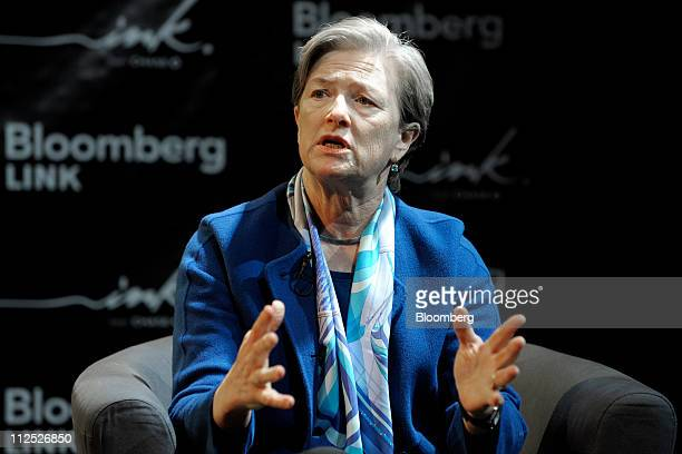 Kathryn Wylde president and chief executive officer of New York City Partnership speaks at Bloomberg Link Empowered Entrepreneur Summit in New York...